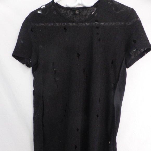 GUESS, xxs, short sleeve shirt, with holes, BNWOT